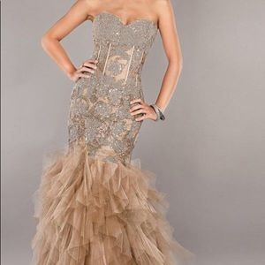 Jovani Mermaid Sweetheart Tulle Dress
